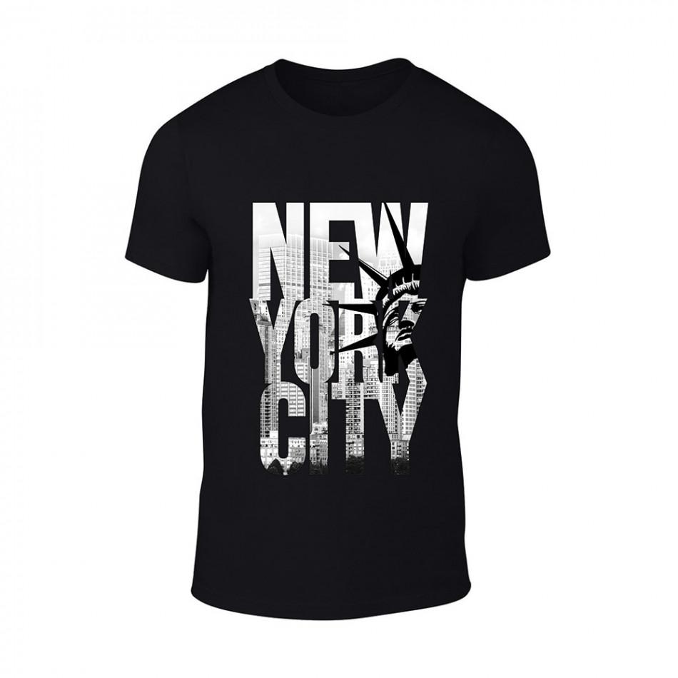 Мъжка черна тениска New York TMN-M-056