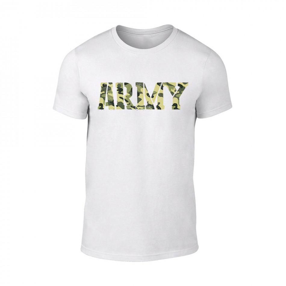 Мъжка бяла тениска Army TMN-M-061