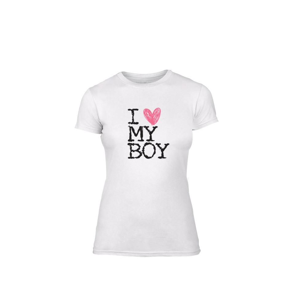 Дамска тениска Love My Boy, размер M TMNLPF026M