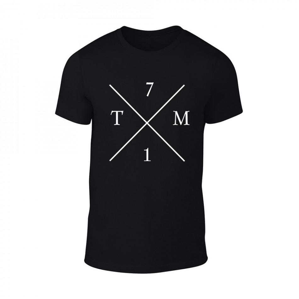 Мъжка черна тениска TM71 TMN-M-066