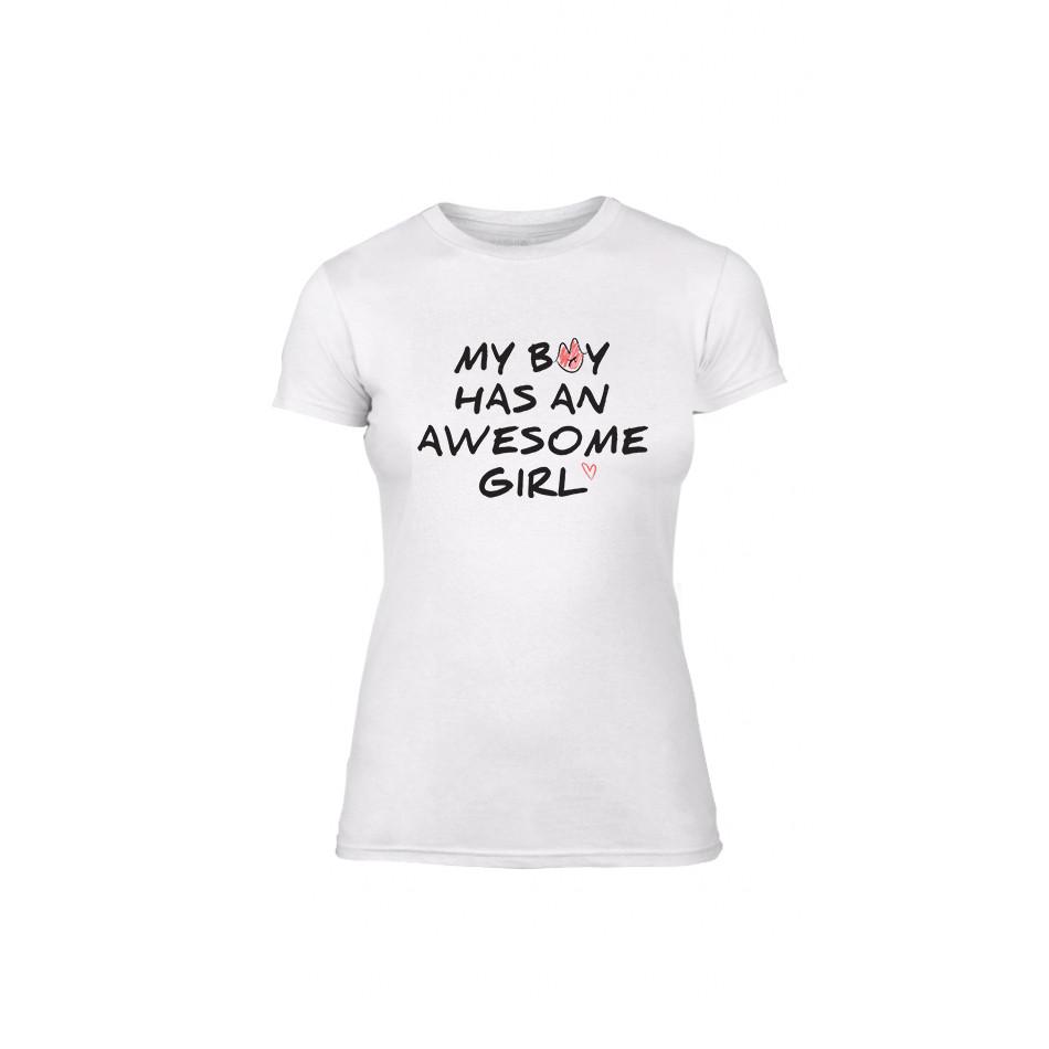 Дамска тениска The Awesome Boy & Girl, размер M TMNLPF066M