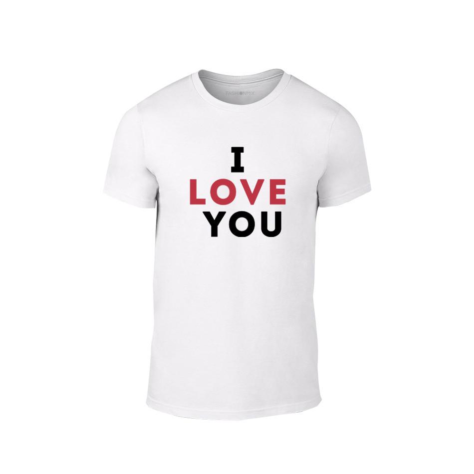 Мъжка тениска I love you, размер M TMNLPM155M