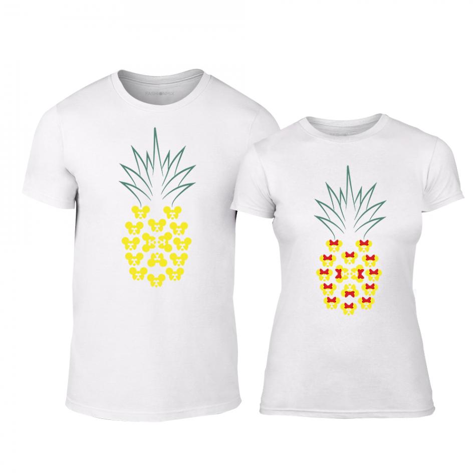 Тениски за двойки Pineapple бели TMN-CP-262