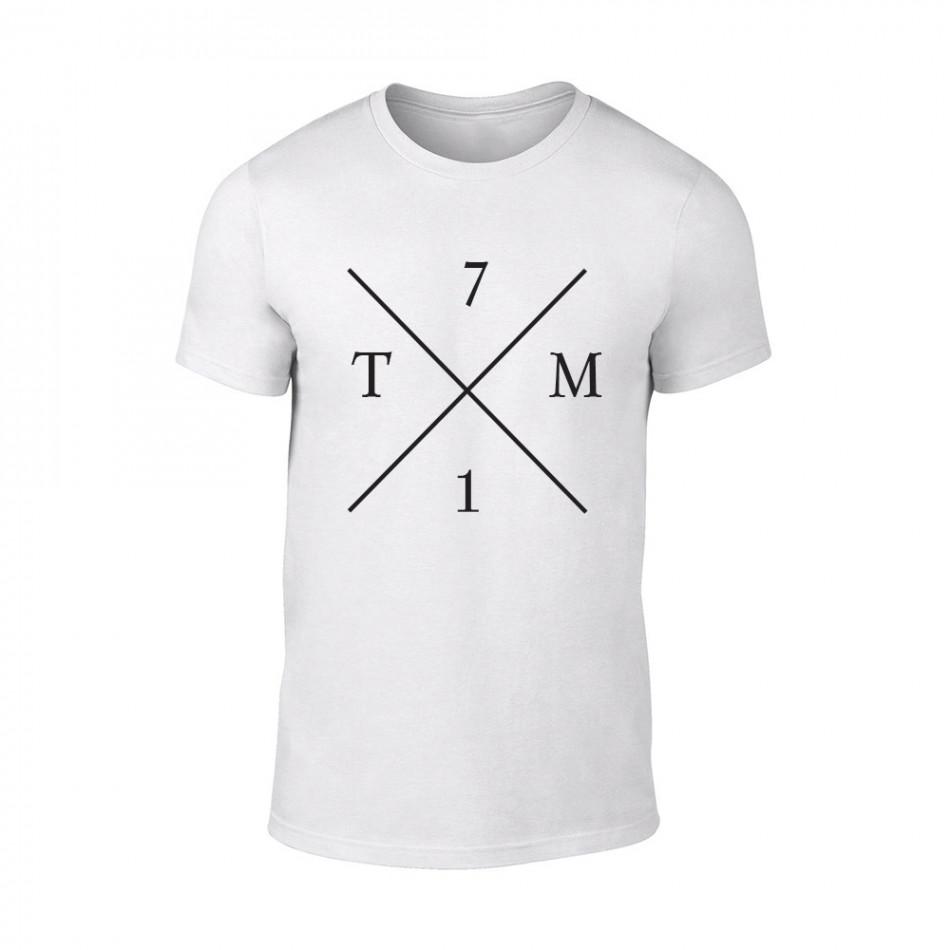 Мъжка бяла тениска TM71 TMN-M-065