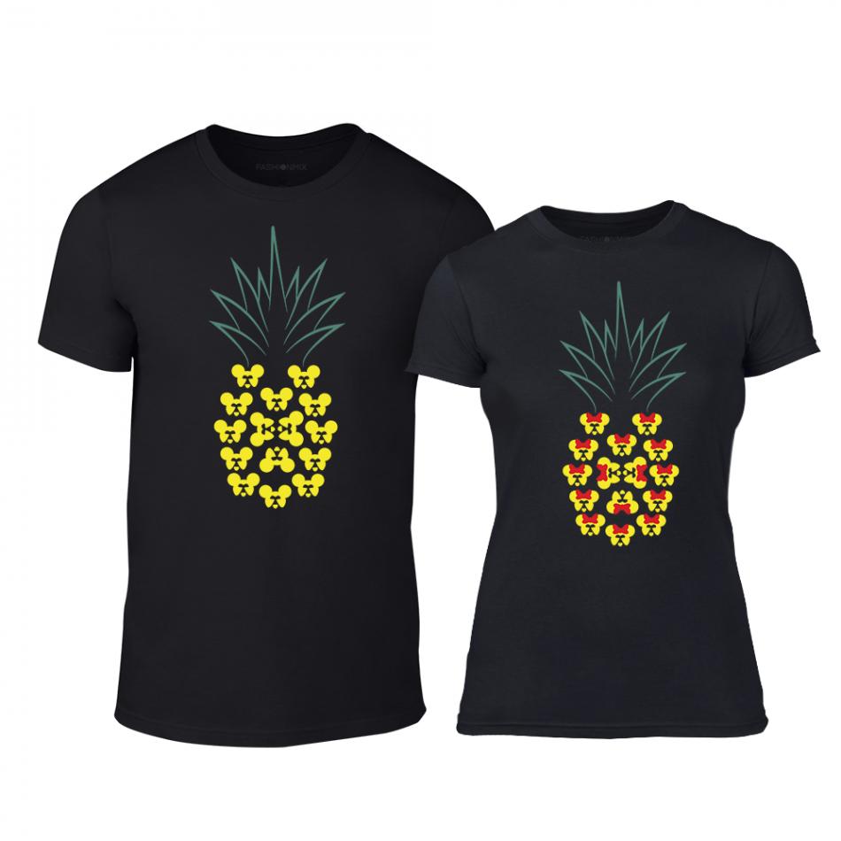 Тениски за двойки Pineapple черни TMN-CP-263