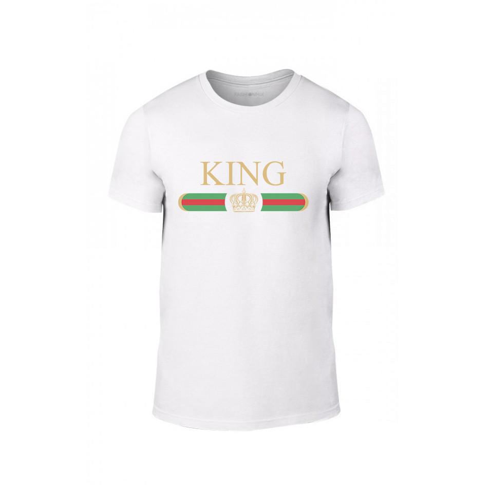 Мъжка тениска Fashion King Queen, размер L TMNLPM244L
