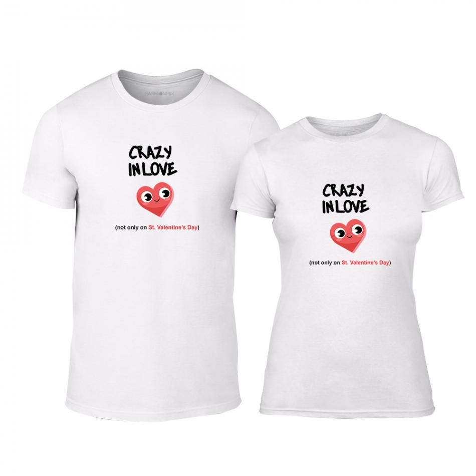Тениски за двойки Crazy In Love бели TMN-CP-223