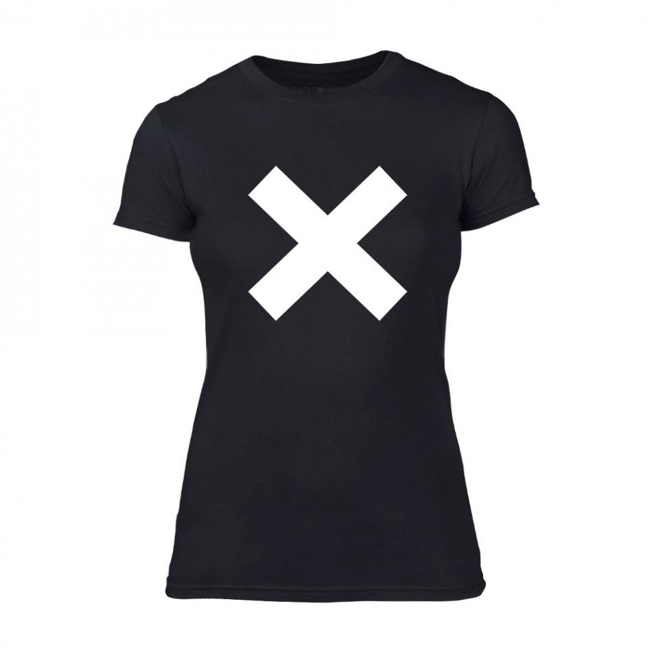 Дамска черна тениска X TMN-F-066