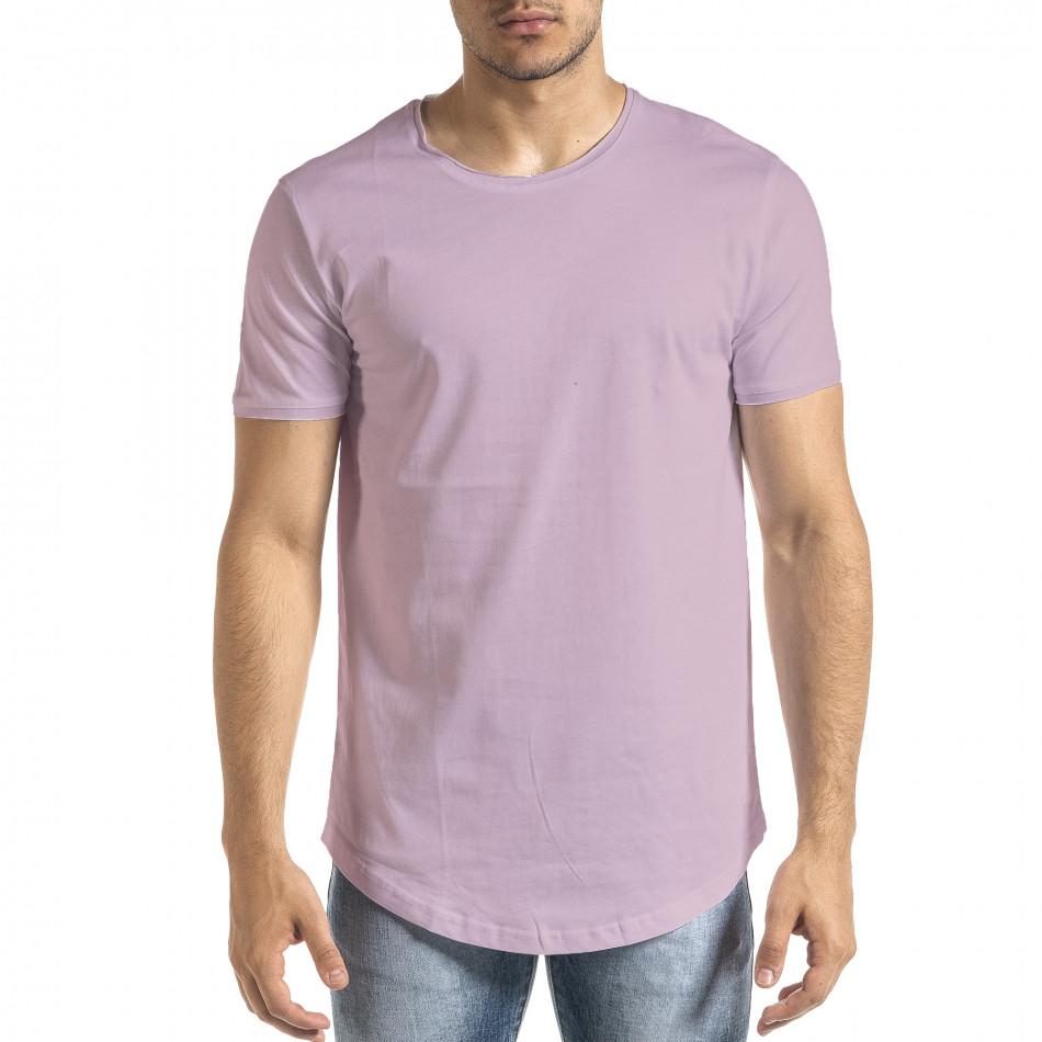 Basic мъжка тениска в светло лилаво tr140721-2