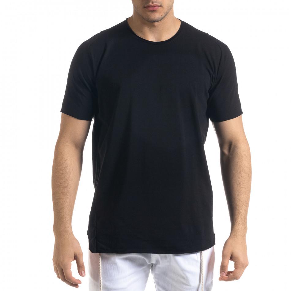 Basic мъжка черна тениска  tr110320-79