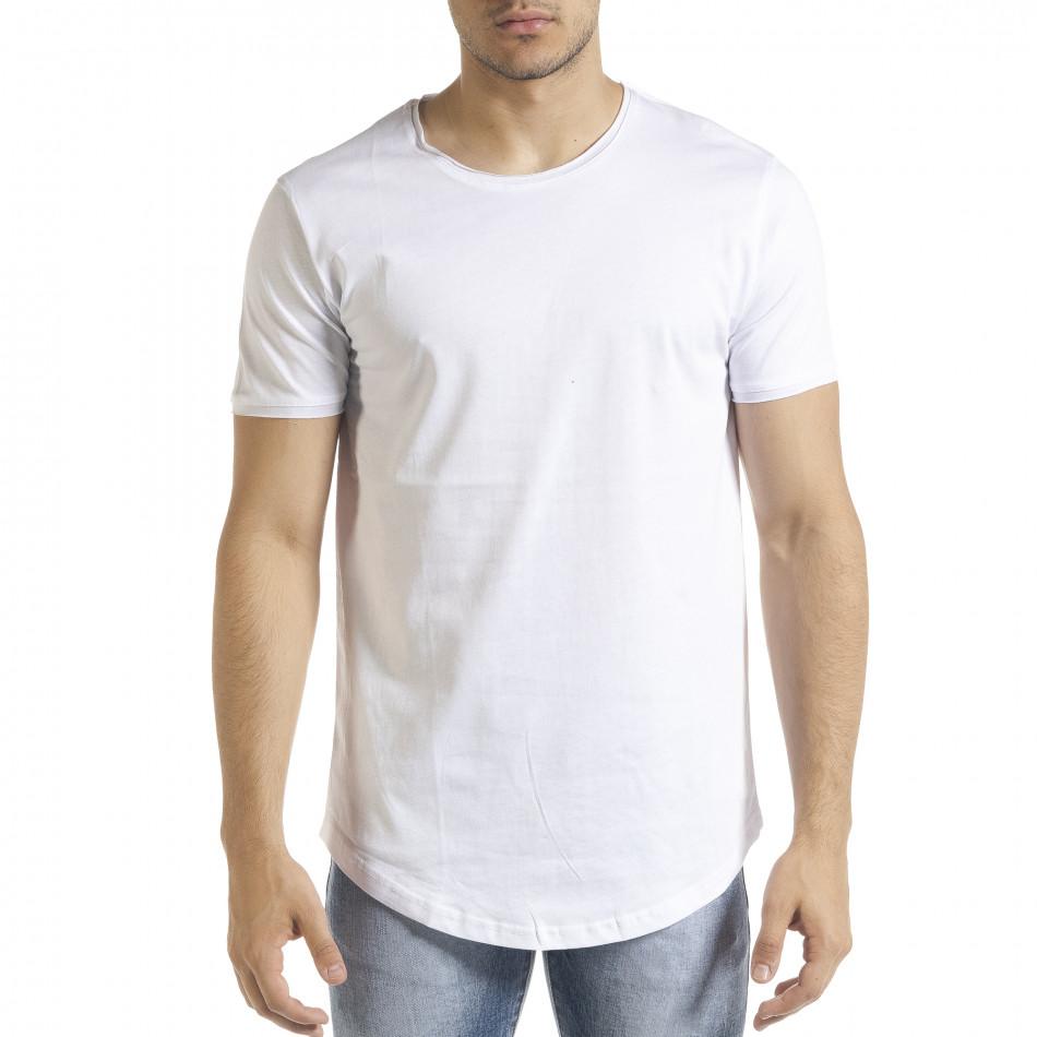Basic мъжка тениска в бяло tr080520-40