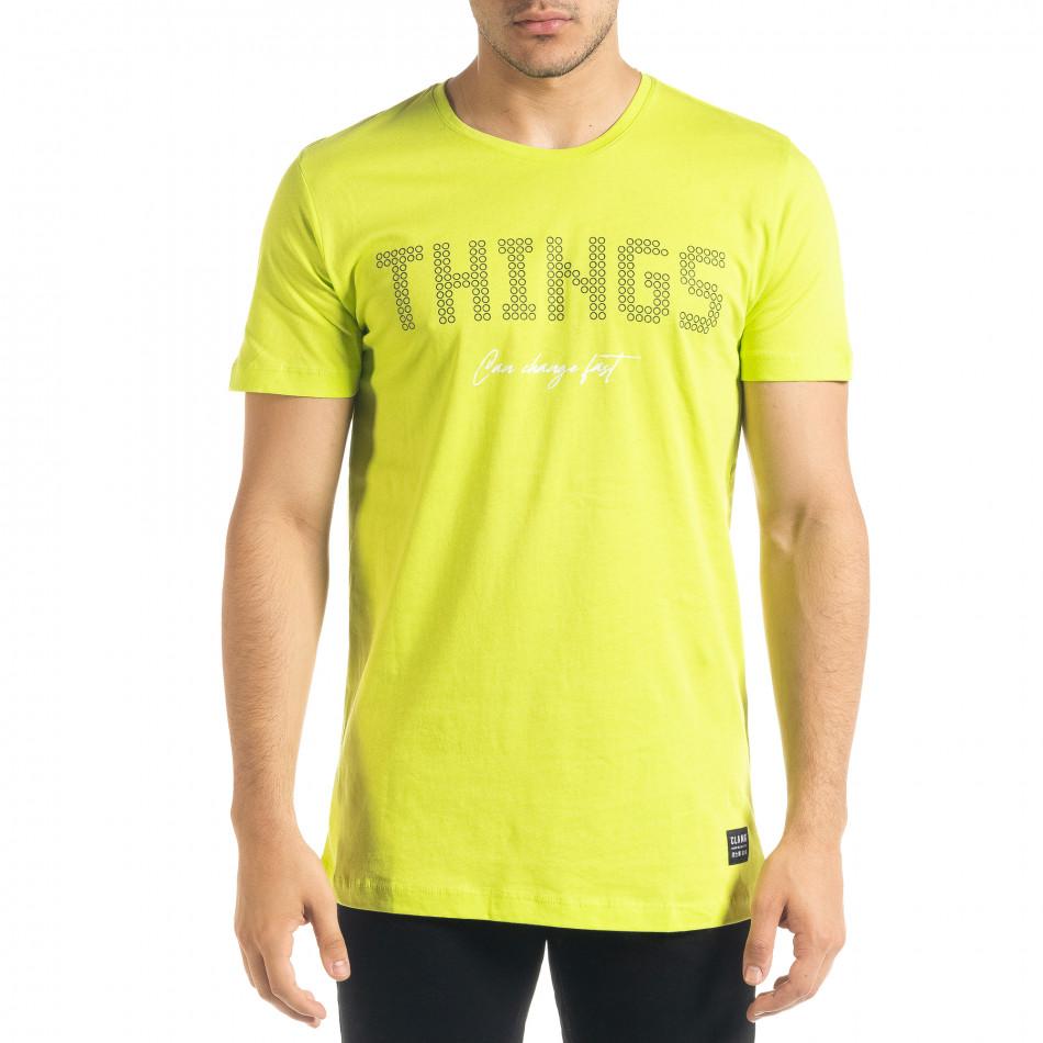 Неонова мъжка тениска Things tr080520-46