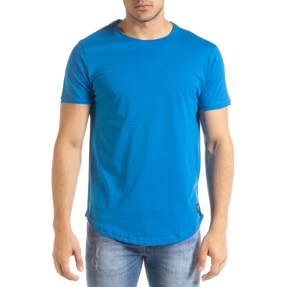 Basic мъжка тениска в синьо tr080520-41