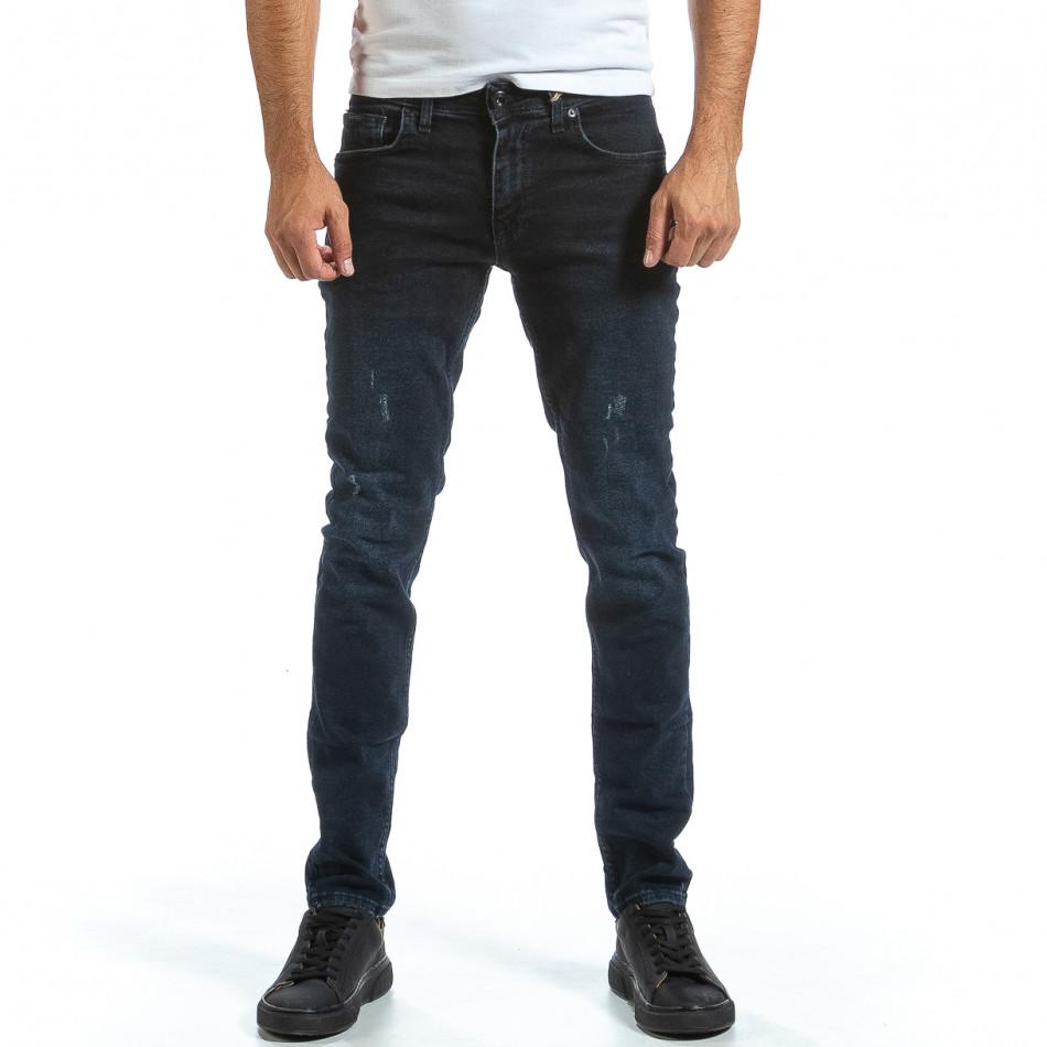 Long Slim сини дънки плътен деним tr070921-10