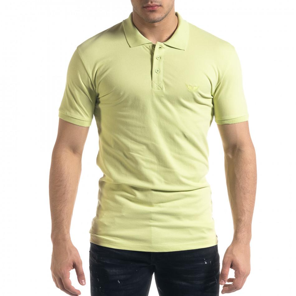 Мъжка тениска пике polo shirt в зелено tr110320-18