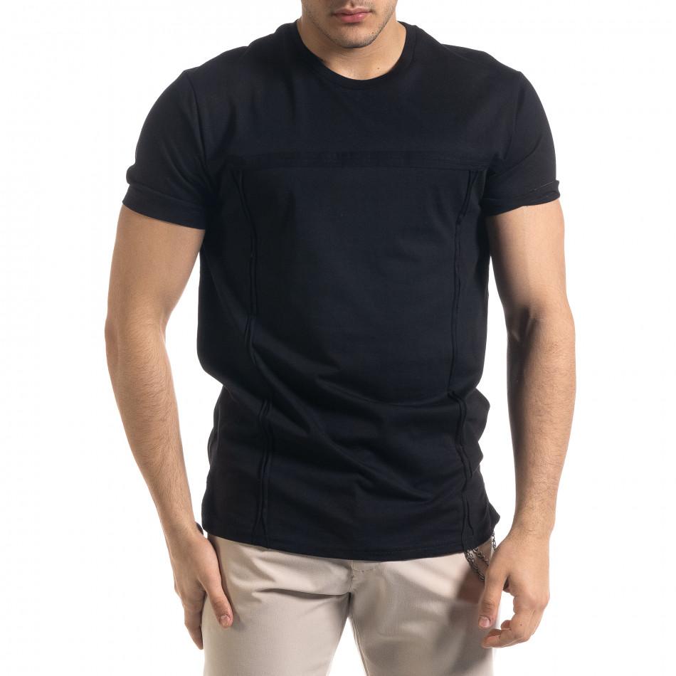 Мъжка черта тениска с обърнати шевове tr110320-77