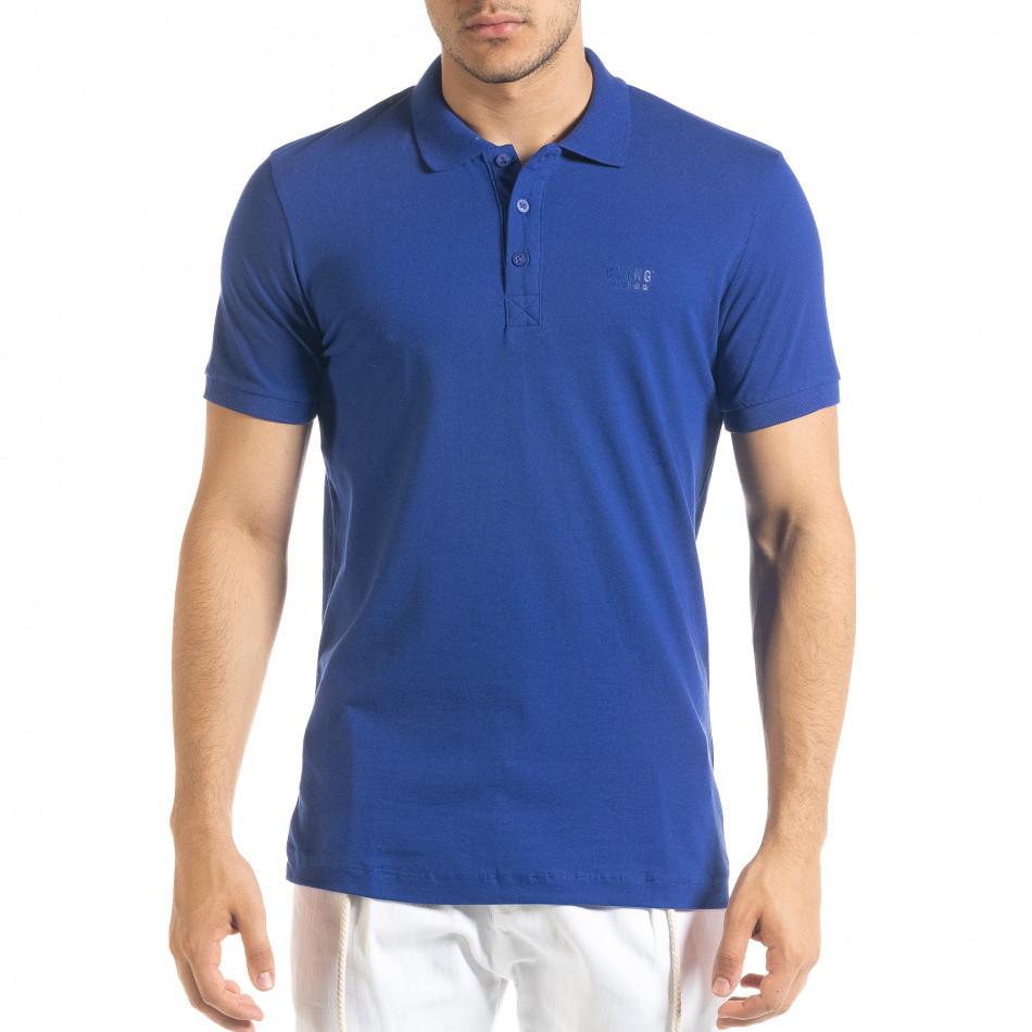 Basic polo мъжка тениска кралско синьо tr080520-52