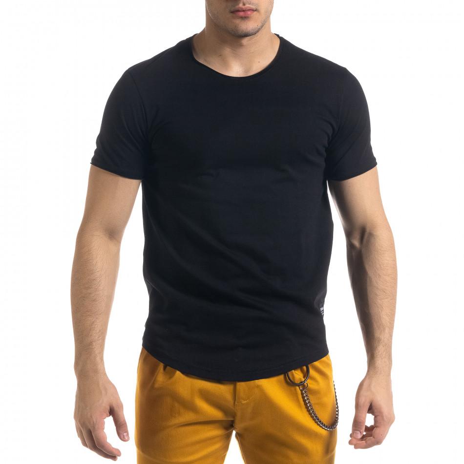 Basic мъжка тениска в черно tr110320-67