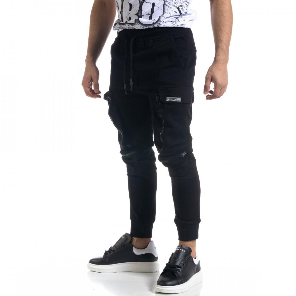 Мъжки панталон тип Jogger с обемни джобове tr110320-127