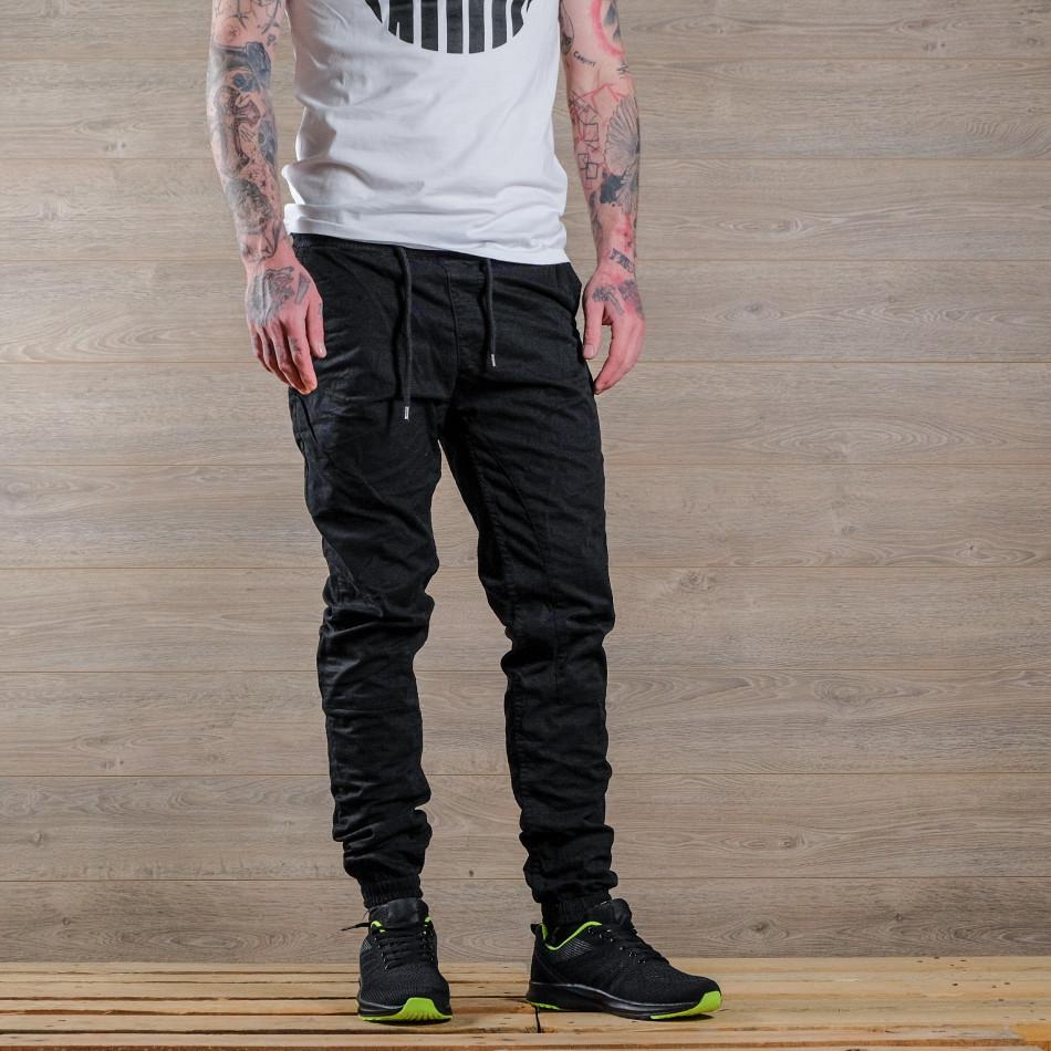 Лек мъжки панталон в черно тип джогър tr170320-6