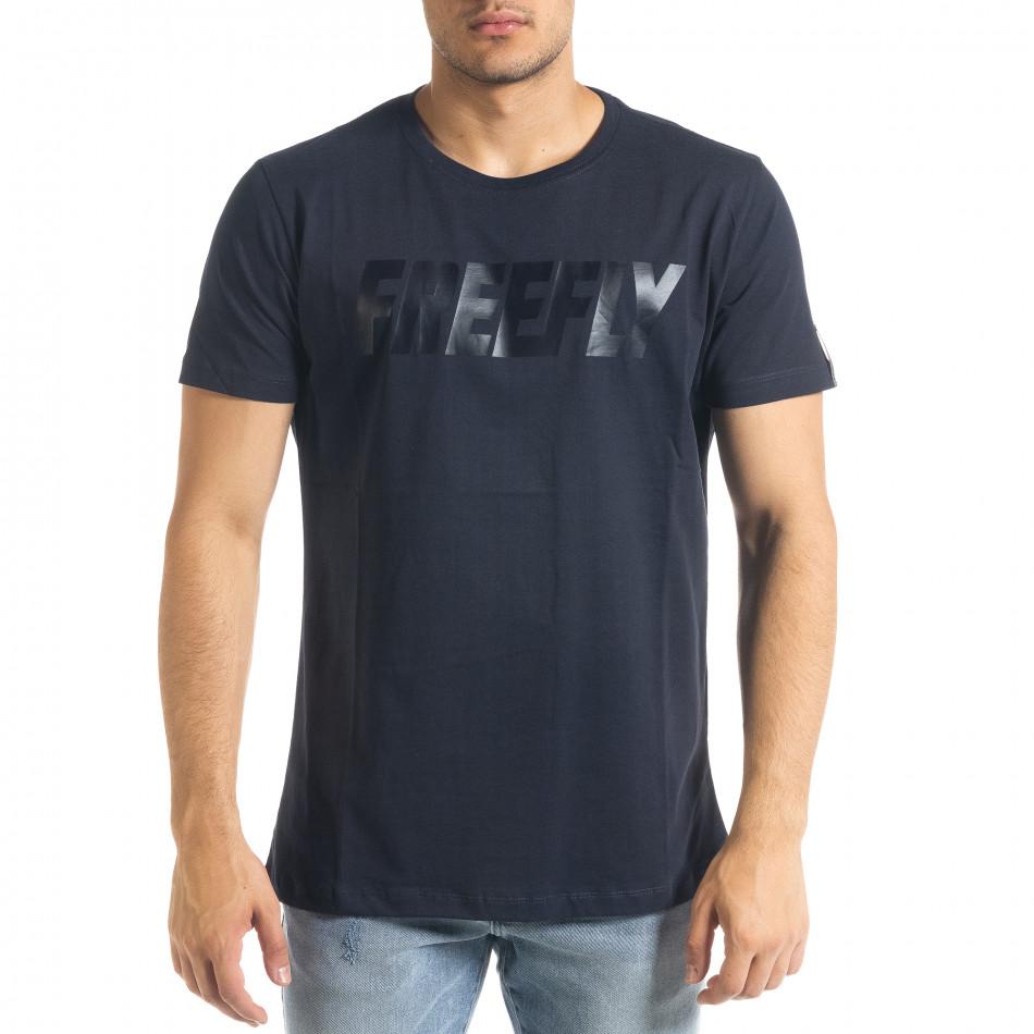 Basic мъжка тениска Freefly в синьо tr240420-10