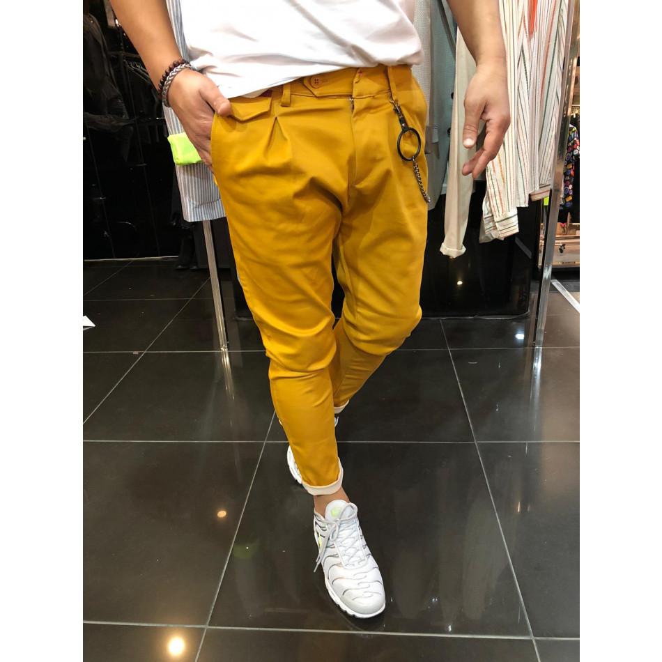 Мъжки камел панталон с аксесоар tr110320-118