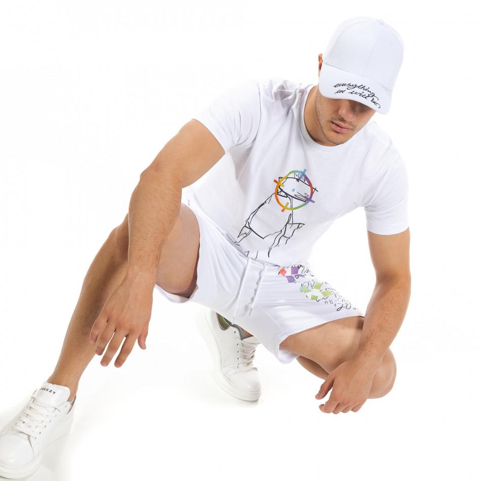 Бял мъжки спортен комплект 2020 tr080520-66