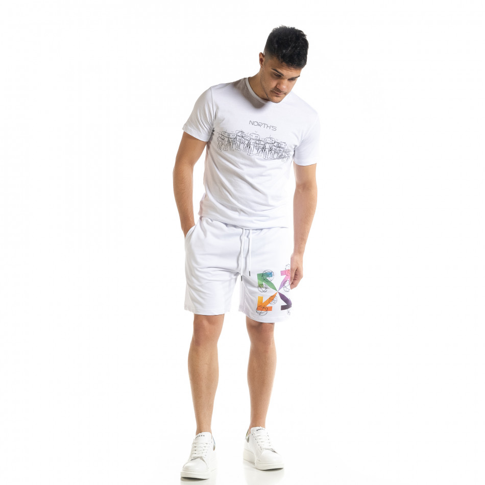 Бял мъжки спортен комплект North's tr080520-63