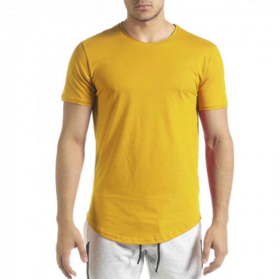 Basic мъжка тениска в жълто tr140721-1