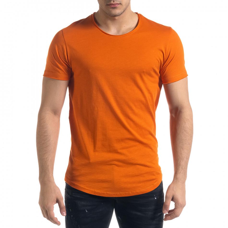Basic мъжка тениска в оранжево tr110320-69