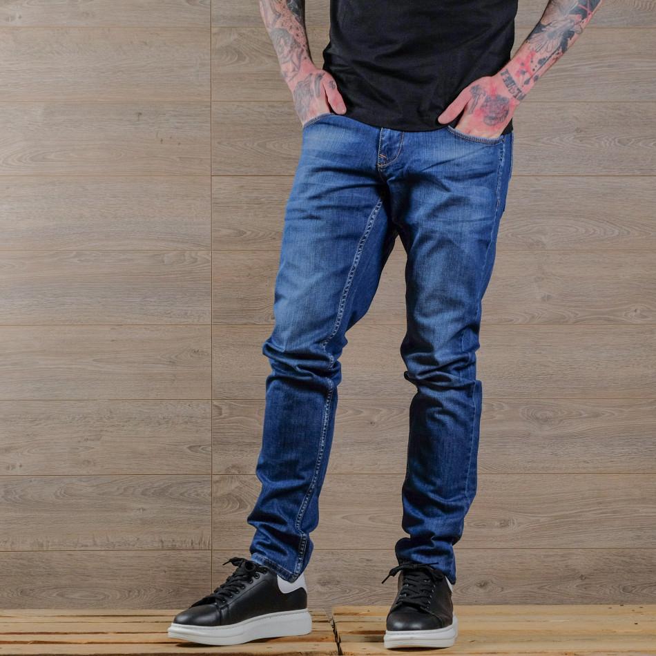 Basic Slim fit мъжки сини дънки tr030420-3