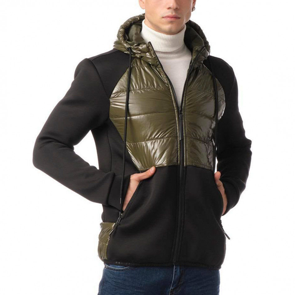 Комбинирано мъжко яке зелен контраст tr131120-10