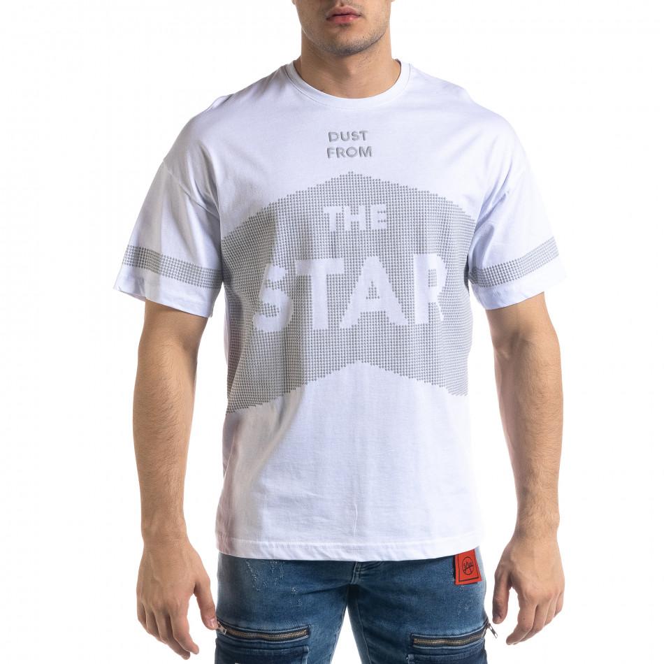 Мъжка тениска в бяло The Star Oversize  tr110320-13