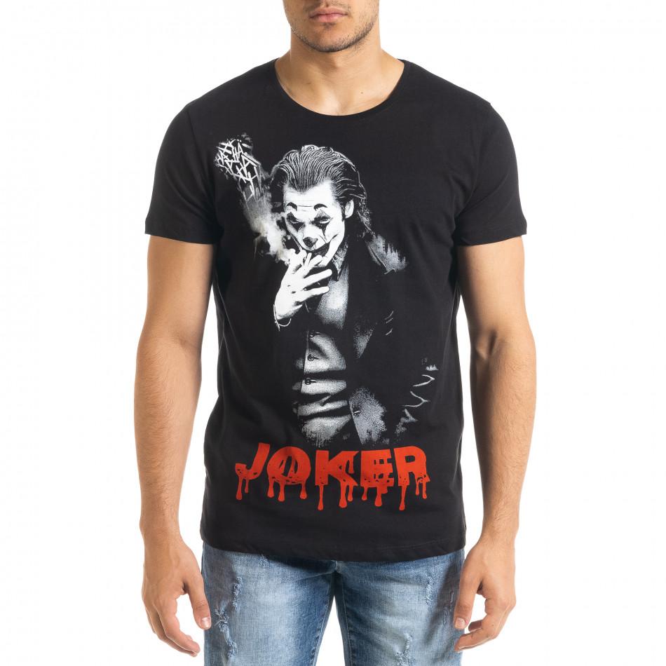 Мъжка черна тениска JOKER tr080520-26