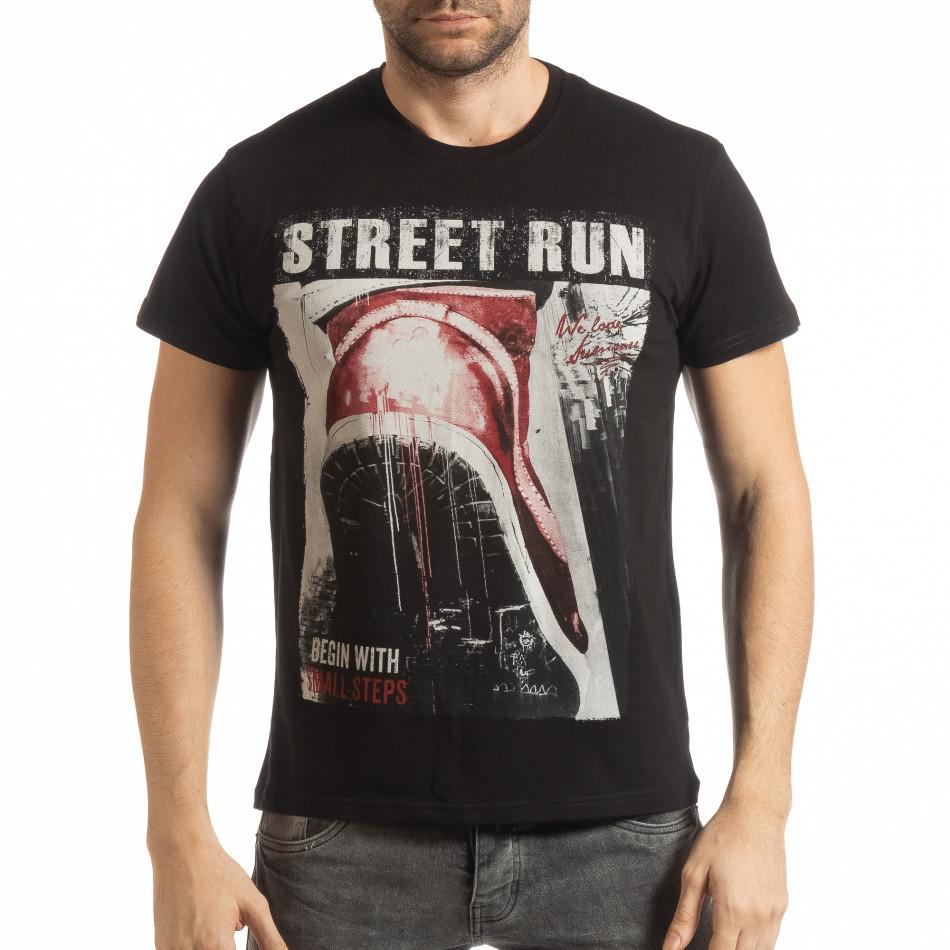 Черна мъжка тениска Street Run tsf190219-83