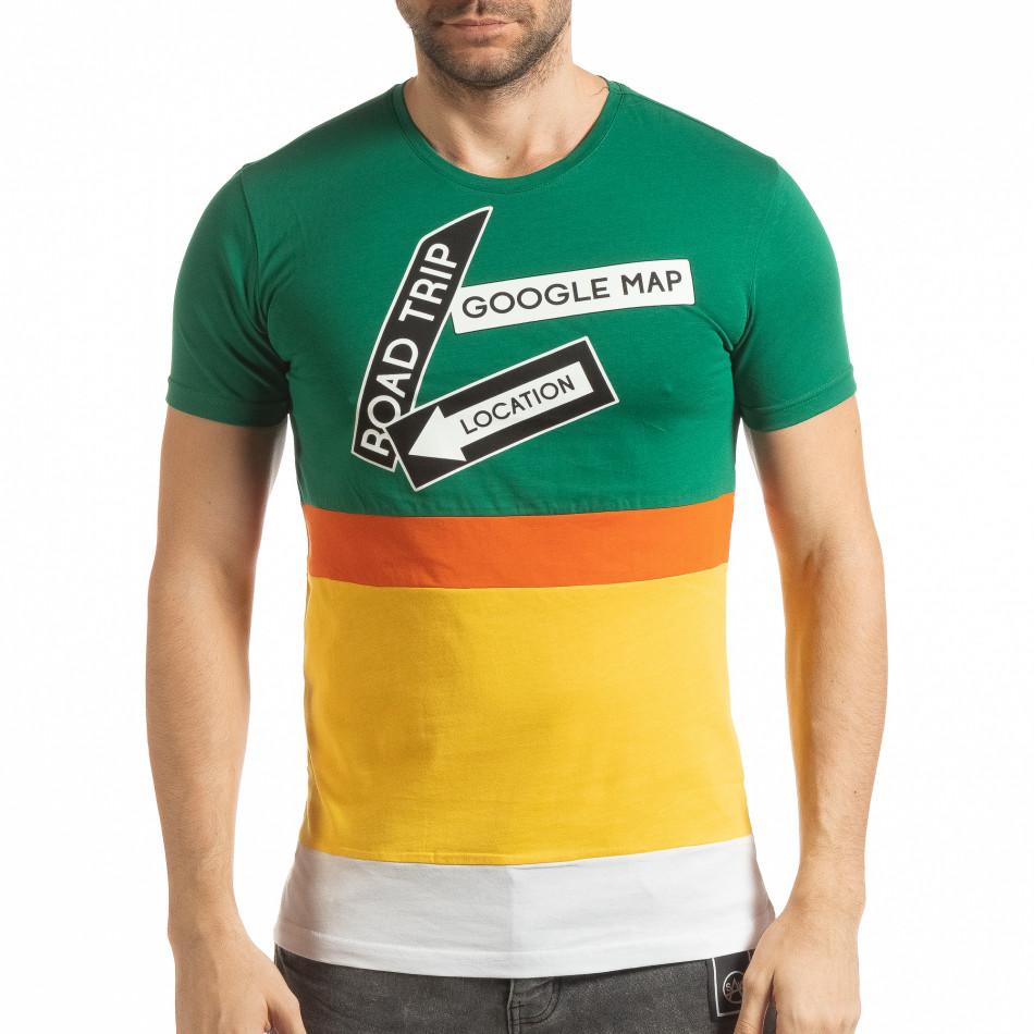 Колоритна мъжка тениска tsf190219-40