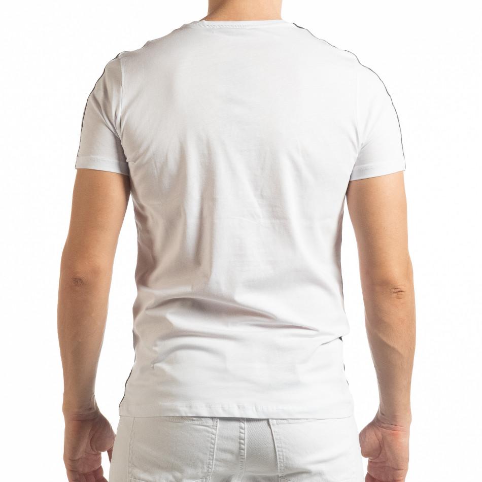 30f8c07c327 Мъжка черно-бяла тениска New York tsf190219-50 | Fashionmix.bg