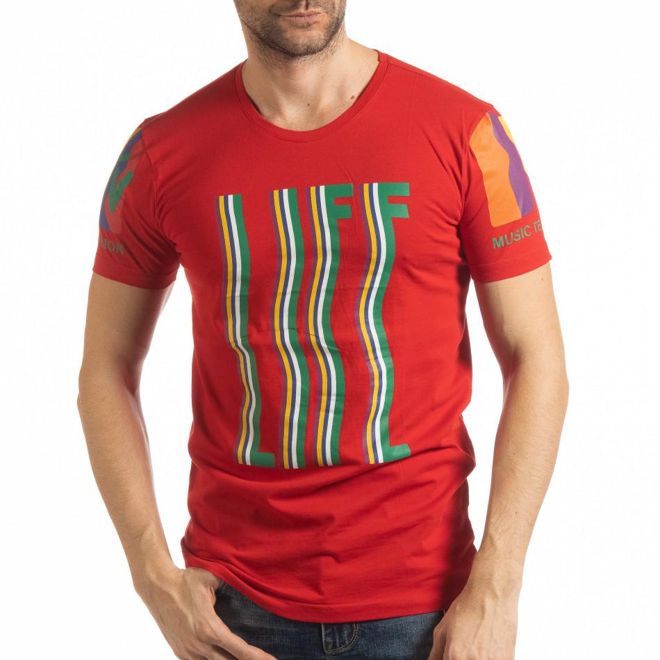 Мъжка червена тениска MTV Life tsf190219-34