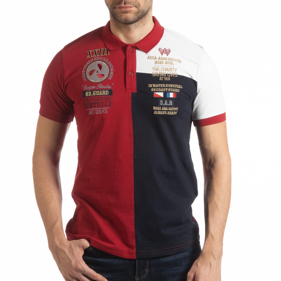 Мъжка тениска с яка RBW Marine style tsf190219-96
