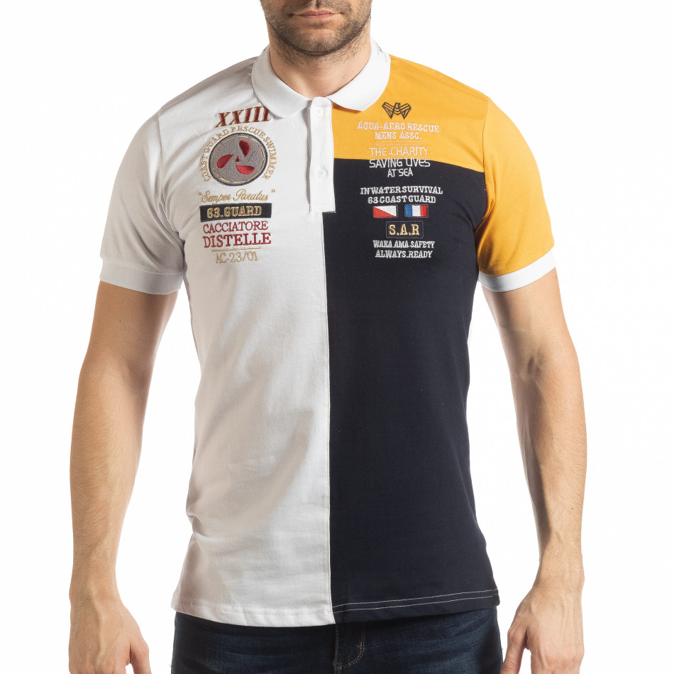 Мъжка тениска с яка WBY Marine style tsf190219-97