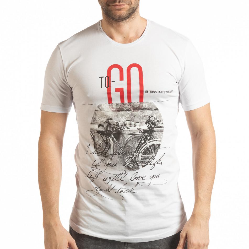 Мъжка тениска в бяло To-Go tsf190219-25