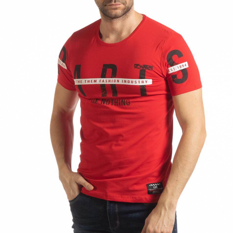 Червена мъжка тениска ART tsf190219-3