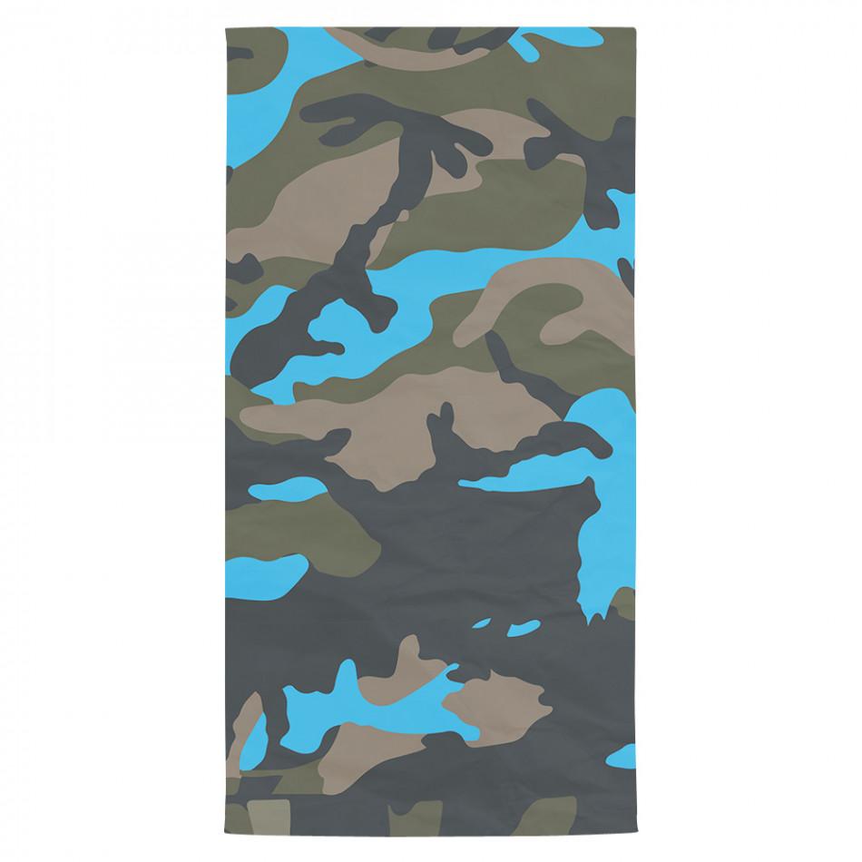 Плажна кърпа синьо-зелен камуфлаж tsf120416-13