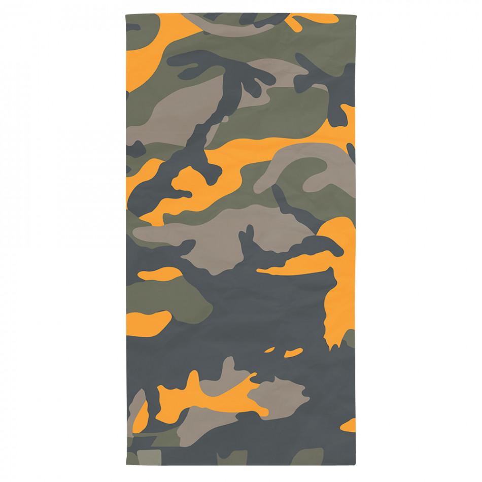 Супер хитова плажна кърпа оранжево-зелен камуфлаж tsf120416-15