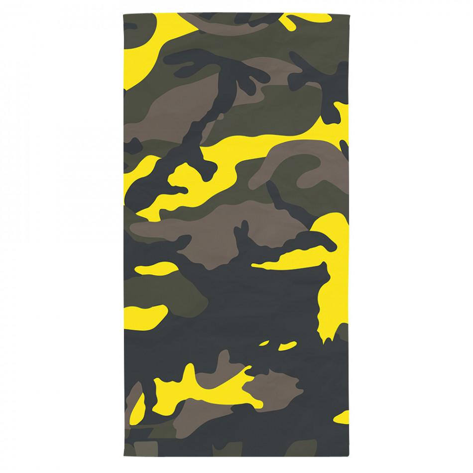 Плажна кърпа жълто-зелен камуфлаж tsf120416-17