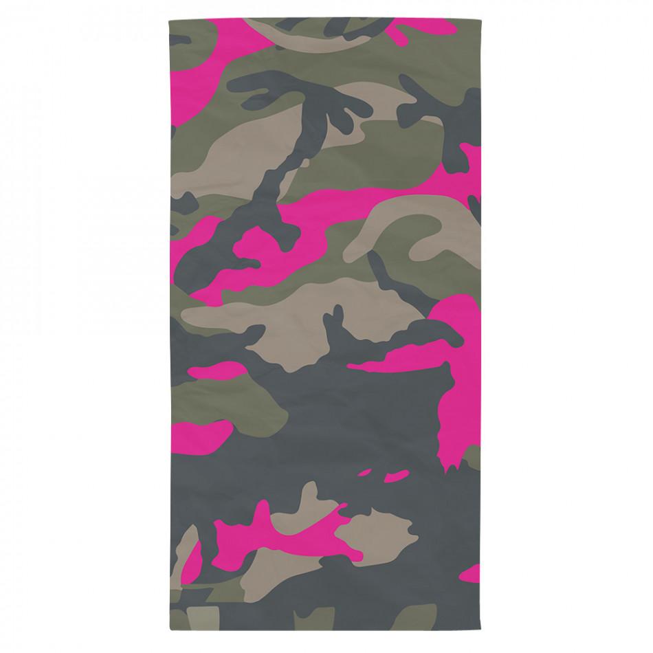 Плажна кърпа розово-зелен какуфлаж tsf120416-16