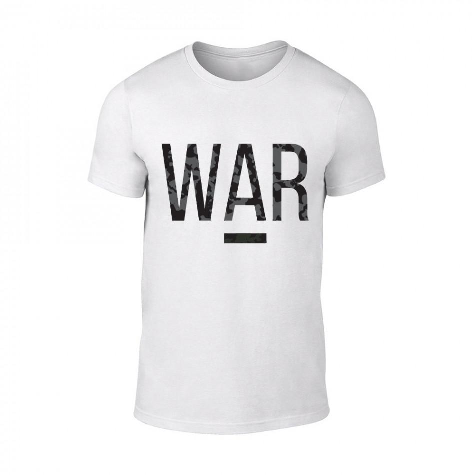 Мъжка бяла тениска War TMN-M-081