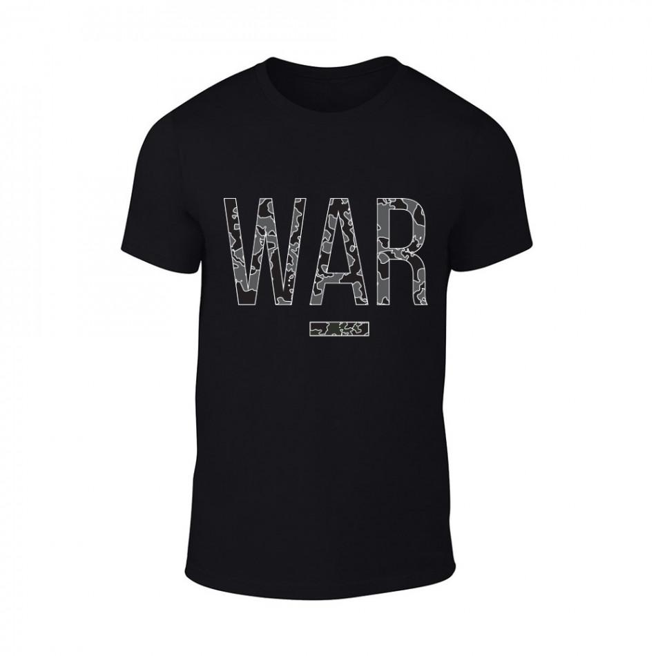 Мъжка черна тениска War TMN-M-082