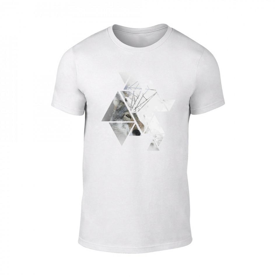 Мъжка бяла тениска Wolf TMN-M-195