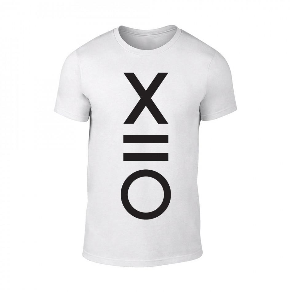 Мъжка бяла тениска XO TMN-M-083